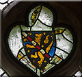 TF0881 : Medieval Stained Glass Fragments, Wickenby church by J.Hannan-Briggs