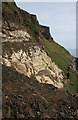 NM4986 : Valtos Sandstone and a Landslide by Anne Burgess
