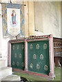 TF9828 : The church of All Saints in Stibbard - rood screen by Evelyn Simak