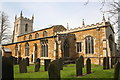 SK7011 : St Mary's Church and graveyard by Roger Templeman