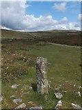 SX7374 : Boundary stone near Blackslade Ford by David Smith
