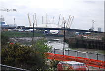 TQ3980 : A1020 flyover and O2 Arena by N Chadwick