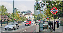 TQ2882 : Entrance to Regents Park Underground station on Marylebone Road by Ben Brooksbank