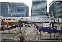 TQ3780 : Building Crossrail (Canary Wharf Station) by N Chadwick