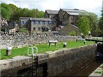 SD9321 : Mill near Travis Mill Lock [No 28], Walsden by Christine Johnstone