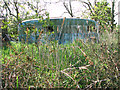 TG4810 : Caravan beside the footpath to Decoy Farm by Evelyn Simak