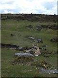 SX7377 : Track and stream at Bonehill Rocks by David Smith