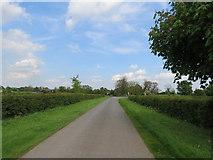 SE9647 : Minor  road  toward  the  B1248  at  Lund by Martin Dawes