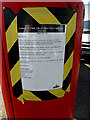 TM4488 : Notice on Benacre Road Postbox by Adrian Cable