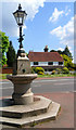 TQ5742 : House and Fountain by Des Blenkinsopp