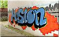 J3372 : Advertising graffiti, Stranmillis, Belfast by Albert Bridge