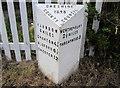 SJ4349 : Victorian Milepost at Shocklach by Jeff Buck