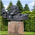 SP5241 : Head of Lenin, Thenford Arboretum by David P Howard