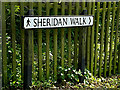 TM4489 : Sheridan Walk sign by Adrian Cable
