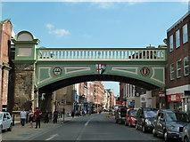SO8455 : Worcester - Foregate Street railway bridge by Chris Allen