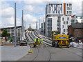 SK5739 : Karlsruhe Friendship Bridge, southern ramp by Alan Murray-Rust