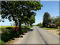TM4687 : Hulver Road & Red House Farm Postbox by Adrian Cable