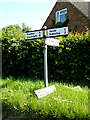 TM4787 : Roadsign on Hulver Road by Adrian Cable