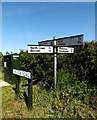 TM4888 : Roadsigns on Church Road by Adrian Cable