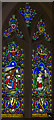 SK9875 : Stained glass window, St Mary's church, Riseholme by J.Hannan-Briggs