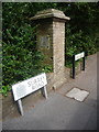 SZ0692 : Branksome: former county boundary stone on Surrey Road by Chris Downer