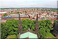 SJ4066 : View from the tower of Chester Cathedral by Jeff Buck
