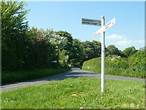 SP3114 : Country lane junction by Robin Webster