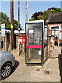 TM4290 : Telephone Box & Station Road George VI Postbox by Adrian Cable