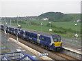 NS9067 : Blackridge from the station by M J Richardson