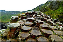 C9444 : County Antrim - Giant's Causeway - Tops of High Basalt Columns  by Suzanne Mischyshyn