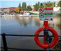 ST5872 : Lifebuoy and warnings at the edge of Phoenix Wharf, Bristol by Jaggery