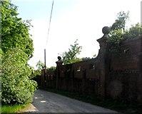 TL3005 : Wall surrounding Ponsbourne Park by Bikeboy