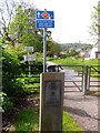 NT1885 : Gated access on National Cycle Way by Stanley Howe