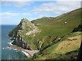 SS7049 : Valley of Rocks Castle Rock-North Devon by Martin Richard Phelan