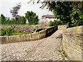 SJ9495 : Across Manchester Road roving bridge by Gerald England