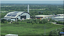 TQ0377 : Colnbrook incinerator from the air by Thomas Nugent