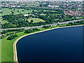 SU9977 : The Queen Mother Reservoir from the air by Thomas Nugent