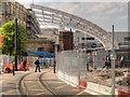 SJ8498 : New Roof Construction at Victoria Station (May 2014) by David Dixon