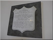 SU4774 : St Mary, Chieveley: memorial (l) by Basher Eyre
