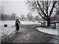 TL4559 : Winter on Jesus Green by Kim Fyson