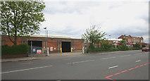 TQ3772 : Catford bus garage, Bromley Road frontage by David Kemp