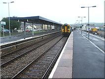 SN1916 : Whitland railway station, Carmarthenshire by Nigel Thompson