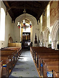 TM1877 : Inside of St.Peter & St.Paul Church, Hoxne by Adrian Cable