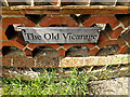 TM1877 : The Old Vicarage sign by Geographer