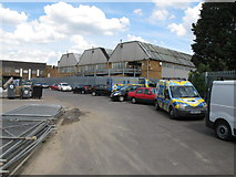 TQ2182 : Parking area of Apex Industrial Estate, Hythe Road NW10 by David Hawgood