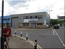 TQ2182 : Garage in Hythe Road London NW10 by David Hawgood