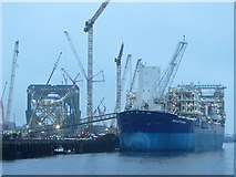 NZ3166 : Oil exploration vessels on River Tyne by Andrew Curtis