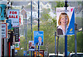 J5081 : Election posters, Bangor by Rossographer