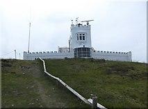SH4793 : Point Lynas lighthouse by Eirian Evans