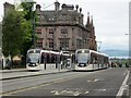 NT2574 : Trams at St Andrew Square, Edinburgh by Graham Robson